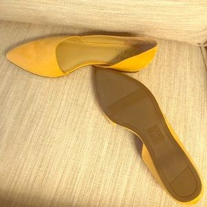 Naturalizer Faux suede yellow flats